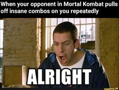 When your opponent in Mortal Kombat pulls off insane combos on you repeatedly - iFunny :) Mortal Kombat Comics, Mortal Kombat Memes, Mortal Kombat 3, Funny Relatable Memes, Funny Posts, Hilarious Jokes, Funniest Memes, Please Dont Hurt Me, Jokes Pics