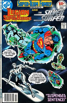 Super-Team Family: The Lost Issues!: Legion of Super-Heroes and The Silver Surfer - I think I have the LSH comic this is from