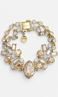 Champagne and Crystal Bracelet by Givenchy <3<3