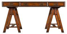 "Industrial Style Jodhpur 60"" Writing Desk, Russet"