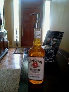 Liquor bottle soap dispensor
