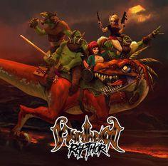 "For fans ofMoonsorrow, Finntroll, Windir, Equilibrium, Ensiferum, Kalmah, Wintersun Quebec Folk Metal NORDHEIM Launch Indiegogo For""RapThor"", An Album About Bacon And Dinosaurs   I…"