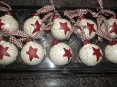 Primitive Crackle Ornaments