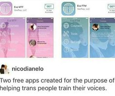 Cool, but I wish it was something like instead of female and male voices, deep or high pitched voices Ja Gay, Transgender Tips, Trans Boys, Lgbt Community, Faith In Humanity, Along The Way, Feminism, Equality, Just In Case