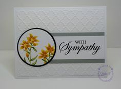 Floral Sympathy Card using Hero Arts With Sympathy set