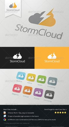 Storm Cloud Logo - Abstract Logo Templates