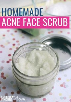 Do you or someone you know suffer from acne? There's no need to resort to using products loaded with chemicals and other harsh ingredients when you can make all-natural products that will be gentler yet effective on your skin. This Homemade Face Scrub for Diy Face Scrub, Face Scrub Homemade, Diy Scrub, Homemade Recipe, Diy Facial Exfoliating Scrub, Facial Cleanser, Best Scrub For Face, Homemade Skin Care, Homemade Beauty Products
