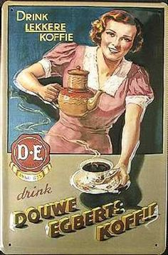 Douwe Egberts Coffee advertising #vintage