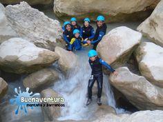 Descenso de Barrancos en familia. Cañón del Río Vero - Sierra de Guara - Alquézar- Huesca. Guías Buenaventura.