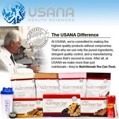 A high-quality nutritional that we endorse! Call us to find out more about USANA - Advanced Healthcare - 411 E Roosevelt Rd Wheaton, IL 60187 - 630.260.1300 - advancedhealth.us