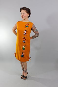 1960s Vintage DressALL AT ONCE Summer Fashion by stutterinmama, $64.00