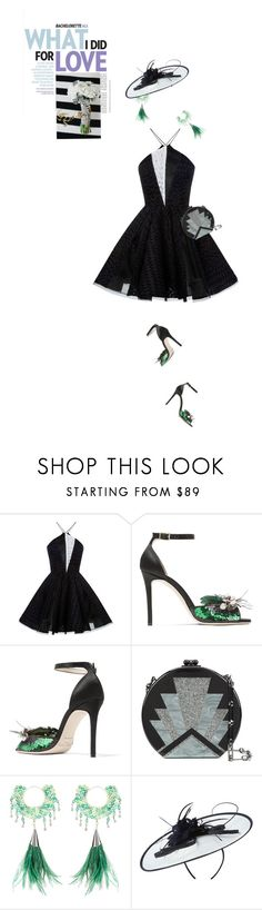"""""""Dress Rachel for the Bachelorette!"""" by slavicabojanovic ❤ liked on Polyvore featuring Alex Perry, Jimmy Choo, Peek, Edie Parker, Rosantica, Phase Eight and Bachelorette"""