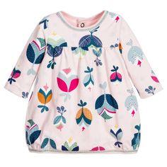 Catimini Baby Girls Pink Cotton Jersey Floral Dress at Childrensalon.com