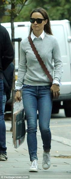 Pippa looked relaxed as she enjoyed a stroll through the capital...