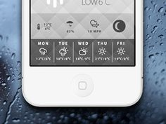 Another Weather App layout design found on Dribbble.