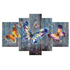 5 parts / sentence diy painting colorful butterfly magic diamond painting cross stitch strass mosaic animal home decor Butterfly Wall Art, Butterfly Painting, Online Painting, Diy Painting, Big Canvas Art, Wall Art Prints, Framed Prints, Cheap Wall Art, Engraving Printing