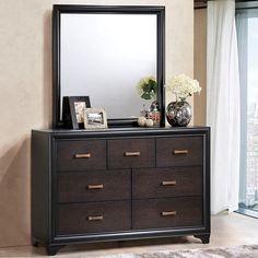 Madison Dresser and Mirror in Walnut
