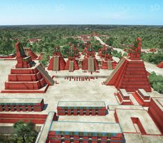 This images are part of a comisioned work of RBA publishers to ilustrate a collection of books about arqueology for National Geographic. reconstruction of the city of Tikal, the bigest city of the mayan civilization. Tikal, Aztec Architecture, Fantasy World Map, Arte Sci Fi, Nazca Lines, Ruined City, National Geographic, Mesoamerican, Ancient Mysteries