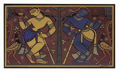 Jamini Roy - Untitled (Krishna and Balarama)