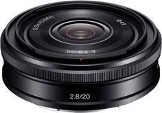 Une nouvelle optique Sony SEL 20 mm f/2,8 pour sa gamme de compacts à objectifs interchangeables Nex.