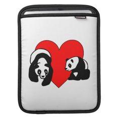 Panda Bear Love iPad Sleeve