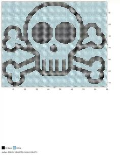 SKULL AND CROSSBONES WALL HANGING by JODON'S PLASTIC CANVAS CRAFTS