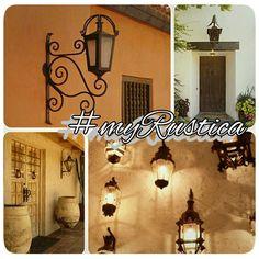 Decorative indoor outdoor tin and iron illumination fixtures by Rustica House. #myrustica