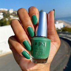 @womnails expresses that #RatedPeaG is top tier and a favorite of hers from our spring collection. We agree! #ColorIsTheAnswer #OPIHollywood #OPIObsessed #OPIInfiniteShine #GreenNails #GreenMani #SpringNails #SpringMani #NOTD #NailsOfInstagram #SexyNails #TrendyNails #NailGoals #NailTrends #NailedIt #HollywoodStyle Green Nail Polish, Sexy Nails, Trendy Nails, Opi, Long Lasting Nail Polish, Colorful Nail Designs, Cute Acrylic Nails, Nail Trends