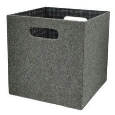 Stone colored felt storage cubes