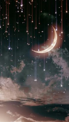 48 Trendy Ideas For Nature Sky Stars Beautiful Moon Cute Wallpaper Backgrounds, Pretty Wallpapers, Aesthetic Iphone Wallpaper, Galaxy Wallpaper, Nature Wallpaper, Screen Wallpaper, Aesthetic Wallpapers, Moon And Stars Wallpaper, Iphone Wallpapers