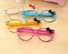 Hello Kitty Glasses with 2 Ballpoint Pens $0.56