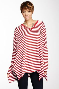 Striped V-Neck Tee on HauteLook