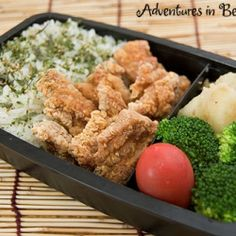 Japanese style fried chicken makes for a tasty bento meal.