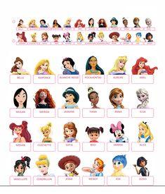 Qui est-ce à imprimer 'Princesses Disney' et 'Jeux vidéos' / Guess who…