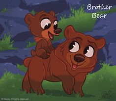 chibi disney characters | Brither bear, Koda and Kinai CHIBI - Walt Disney Characters Fan Art ...
