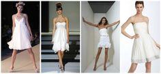 Vestidos de novia cortos para bodas informales