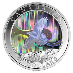 2015 The Raven 1 oz Silver Hologram Coin Bullion Coins, Silver Bullion, Canadian Coins, Coin Art, Proof Coins, Challenge Coins, Coin Collecting, 1 Oz, Silver Coins