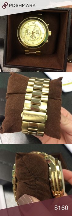 a12a4cbda Michael Kors Men's gold tone watch Mk 8077 style number. In great gently  used condition