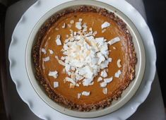 Sweet Potato Pie with Macaroon Crust