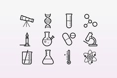 15 Outlined Science Icons ~ Icons on Creative Market