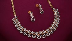 Diamond Necklace Simple, Gold Jewelry Simple, Small Necklace, Diamond Jewelry, Gold Earrings Designs, Gold Jewellery Design, Jewelry Design Earrings, Necklace Designs, Buy Diamonds