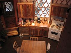 Kheymah- southwest adobe yurt home, with an amazing warm and rustic looking kitchen. Diy Kitchen Furniture, Yurt Interior, Yurt Home, Octagon House, Yurt Living, Plywood Cabinets, Tiny House Movement, Cabin Design, Yurts