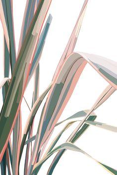 poster go green simple Painting Inspiration, Art Inspo, Fleur Design, Pink Leaves, Jolie Photo, Digital Illustration, Fantasy Illustration, Aesthetic Wallpapers, Pink And Green