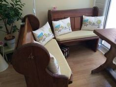 Bench Cushions Created From Foam Cut To Shape And Size Upholstered In Harrow Slub Pear Dining BenchDining AreaBench