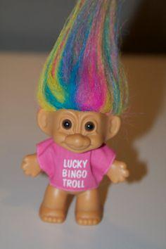 Lucky BINGO Troll Doll by Russ on Etsy, $8.00