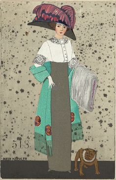 By Mela Koehler (1885-1960), 1911, Fashion Illustration, Published by #WienerWerkstatte #Vienna #FashionIllustration