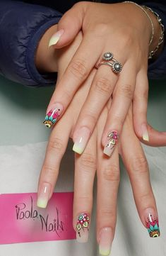 : strong pastel nails enriched with beautiful decoration 22 Classy Nails, Fancy Nails, Stylish Nails, Pretty Nails, White Nail Designs, Nail Art Designs, Nagellack Design, Best Acrylic Nails, Dream Nails