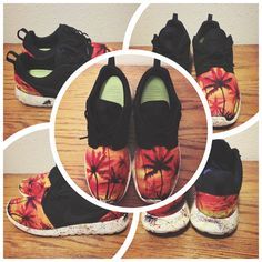 4ccca39daa89 ... clearance just finished these sunset custom nike roshe runs ddbb0 71501