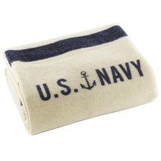 Foot Soldier Military Wool Blanket, US Navy Cream, Faribault Woolen Mi Comfy Blankets, Blankets For Sale, Make Blanket, Wool Blanket, Colorful Throw Pillows, Woolen Mills, Us Navy, Navy Mom, Navy Blue