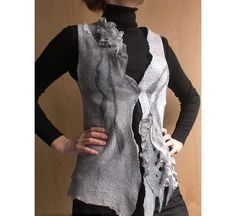 nuno felt clothing - Nuno Felted Vest. $143.00, via Etsy.